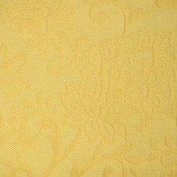 Tori Buttercup Matelasse Floral Yellow Upholstery Fabric By The Yard - Tori in the color Buttercup is a matelasse floral fabric. Great for upholstery and window treatments.
