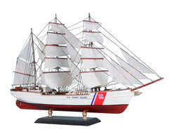 """Handcrafted Model Ships - USCG Eagle Limited 15"""" - United States Coast Guard Eagle Ship - Sold fully assembled"""