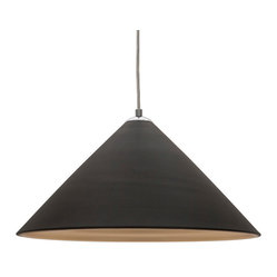 Nuevo Living - Collette Pendant Lamp - A modern classic, this fixture makes a bold style statement while filling your space with light. The wide cone of anodized metal boasts a matte finish and the striking color combo of black and gold — so stunningly simple it suits virtually any decor.