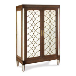 "John Richard Rosewood Bar Cabinet With Lights - 73""H x 44""W x 21""D"