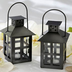 Candle Lantern - Our Black Mini Lantern Candle Holder is a great way to add character to a party or to your backyard patio! This candle holder is inspired from the east and it is made of matte black metal and a glass panel, which creates unique, soft lighting.
