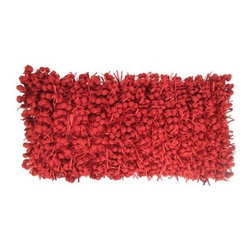 Design Accents Funberry Pillow - We're not sure what a funberry would taste like, but the Design Accents Funberry Pillow is certainly a feast for the eyes. Durable poly construction, a bold red color, and unique contemporary style make this a fun accent for any decor style. Available in a variety of sizes, you can get the perfect fit for your home.