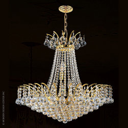 Worldwide Lighting Empire Chandelier W83053G24 - Worldwide Lighting Empire Collection 11 light Gold Finish and Clear Crystal Chandelier