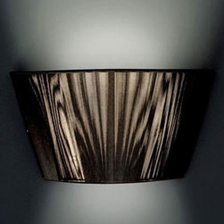 Alt Lucialternative - Lilith wall sconce - The Lilith wall sconce from ALT LUCIALTERNATIVE is designed by Studio Al Team. Stemmed from the rethinking of the traditional lampshade, Lilith has unusual proportions and maxi dimensions which bestow a style and design in line with the contemporary trend. The elegant lampshade in cotton thread, is available in white, black, red, silver, mokka and joined to a glass satin plate, reveals a delicate and uniform light in the entire environment.
