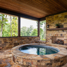 Traditional Swimming Pools And Spas by Dillard-Jones Builders, LLC