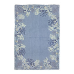 Homefires - Contemporary Sea Star Blue 8'x10' Rectangle Blue Area Rug - The Sea Star Blue area rug Collection offers an affordable assortment of Contemporary stylings. Sea Star Blue features a blend of natural Blue color. Hand Hooked of Polyester the Sea Star Blue Collection is an intriguing compliment to any decor.