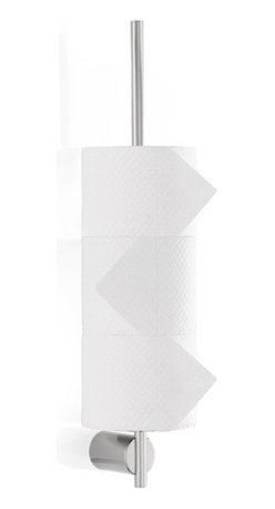 Blomus - Duo Toilet Paper Pole - Matte - Roll call: You will never be left short-handed with a wall-mounted toilet paper pole that seeks to lift this humble bathroom essential to its rightful position by your side, and assures perfect attendance to your needs.