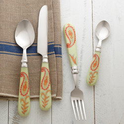 Paisley Flatware 4-Piece Set -