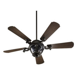 Quorum International - Westbrook Ceiling Fan by Quorum International - The Quorum Westbrook Ceiling Fan will not only brighten your room but it will adorn it with its lavish look and intricate design along with circulating cool fresh air. The Westbrook Fan features glass diffuser, Walnut blades and Baltic Granite finish.Unique products for unique customers. That's what Quorum International has been creating since 1981. From their headquarters in Fort Worth, Texas, Quorum designs ceiling fans and lighting fixtures in a wide range of styles to meet a wide range of discerning tastes. The high quality of these pieces ensures that their beauty will last for many years to come.The Quorum Westbrook Ceiling Fan is available with the following:Included Features:One glass diffuser.Five Walnut blades.Baltic Granite finish.Wall control.One ceiling canopy.One 4 in. and one 6 in. downrod.52 in. blade diameter.13.5 degree blade pitch.3 fan speeds.Reversible.Lifetime motor warranty.UL Listed for wet locations.Lighting: Three 40 Watt 120 Volt Incandescent lamps (included).Shipping:This brand ships within three-to-five business days.