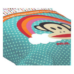 Franco Manufacturing Company Inc - Paul Frank Rainbow Polka Dots - Monkey Twin Bed Comforter - Features: