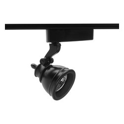 Juno Lighting - Trac-Lites R710 MR16 Bell Track Light, R710bl - Die cast aluminum housing and swivel arm. Deep lamp regression and spun aluminum step baffle to reduce glare.
