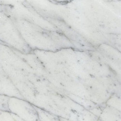 "White Carrara Marble Polished Floor Tiles 18"" x 18"" - 18"" x 18"" x 1cm thick Full solid Italian Bianco Carrara White Polished Marble Tiles. Each tile is 2.25 sqft."