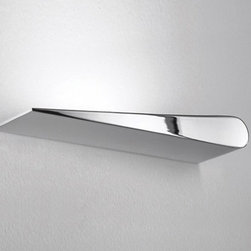 """Icone Luce - Icone Luce Time 2 LED Wall Light - The Time 2 LED Wall Lightallows you to make nice design with its ability to move in the desired axis,  combine two together for a clock-like effect.     The Time 2 LED Wall Light allows you to make nice design with its ability to move in the desired axis,  combine two together for a clock-like effect.  This wall lighting is available in left and right version, and in various colors.     Manufacturer: Icone Luce   Designer:  M. Pagnoncelli   Made in:  Italy   Dimensions:  15"""" (38cm) L x 1.8"""" (4.5cm) W x 3.2"""" (8.2cm) D     Lamping:  LED 16W     Material:  metal body made entirely by hand"""
