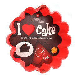 Mustard - I Love Cake Baking Mold - Few acts are more romantic than baking a cake for the one you love. The only way to make this more heartfelt is to make hearts. The I Love Cake Baking Mold cleverly allows you to bake 6 heart shaped cakes at once. This is also great if you happen to love six different people – though you might have to check local legislation first to make sure that's allowed.