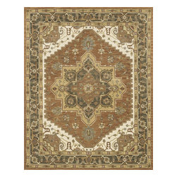 """Loloi Rugs - Hand Tufted Maple Traditional Rug MAPLMP-48AF00 - 8'-0"""" x 11'-0"""" - Transform your home into a manor steeped in elegance and tradition with the majestic Maple Collection. These timeless Persian designs carry the rich heritage of centuries of carpet making in each arabesque, stylized flower and intricate border. Maple Collection rugs are hand-tufted in India of 100-percent wool so they are eco-friendly and mindfully crafted with sustainable materials. With colors as rich as these, you will feel like nobility every time you walk into your home."""