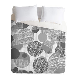 DENY Designs - Rachael Taylor Textured Geo Gray 1 Duvet Cover - Turn your basic, boring down comforter into the super stylish focal point of your bedroom. Our Luxe Duvet is made from a heavy-weight luxurious woven polyester with a 50% cotton/50% polyester cream bottom. It also includes a hidden zipper with interior corner ties to secure your comforter. it's comfy, fade-resistant, and custom printed for each and every customer.