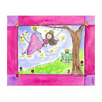 """Oh How Cute Kids by Serena Bowman - As Luck Would Have It, Ready To Hang Canvas Kid's Wall Decor, 20 X 24 - """"As luck would have it""""  What is the princess to do when she has lost her shoe???  Why it is princely frog to the rescue!  As luck would have it   The series goes with 1) Wishing Star ( she makes the wish) 2) """"AS LUCK WOULD HAVE IT"""" she loses her show 3) Wishes and Kisses  ( well you know)  4) """"Happily ever after   There is also 5) Going to the Ball.  I hope you enjoy this series as much as I do.  You can buy one or all five ( sold separately) for easy room decor!"""