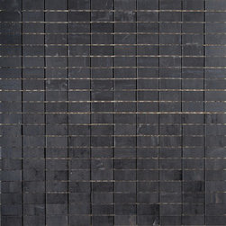 Refin - Artech Nero (Black) Mosaic H968 - Faint luminescent striations in these tiles, create just a hint of opalescent texture which makes this otherwise very mature, minimalist tile sparkle. This understated patterning makes the Artec Collection ideal for ultra-modern settings. These through-body porcelain tiles excel in terms of durability & wear resistance.