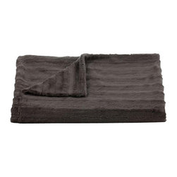 Belle & June - Lux Channel Stripe Charcoal Throw - Wrap yourself in a luxurious embrace with this throw blanket. A great gift to give or receive, use it to add layers of texture and color to your bed, sofa or chaise.