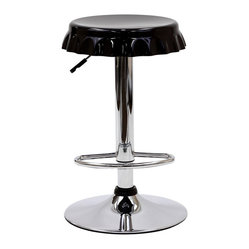 Soda Bottle Bar Stool in Black