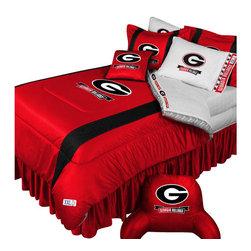 Store51 LLC - NCAA Georgia Bulldogs Comforter Pillowcase College Bedding, Twin - Features:
