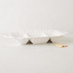 """Anthropologie - Hampstead Divided Platter - DolomiteDishwasher and microwave safe117 oz3""""H, 20""""WImported"""
