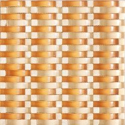 Vintrav Burnt Orange 3D Waves Glass Mosaic Tiles, Sample - Vintrav Burnt Orange 3D Waves Glass Mosaic Tiles for Bathroom Floor, Kitchen Backsplash, unmatched quality.