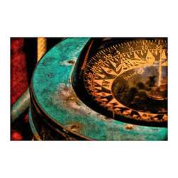 TONY GRIDER - Nautical Compass Fine Art Poster Print, 24x18 - Museum quality prints delivered to your door.