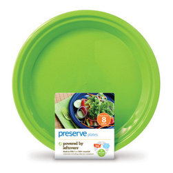 "Preserve - Preserve Large Reusable 10.5"" Plates Apple Green , 8 pack - Preserve believes that just because a dinner plate is big doesn't mean it has to have a big impact on the planet. By developing a unique manufactu practice, the company has created the perfect alternative to glassware and ordinary plasticware."