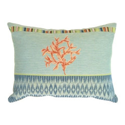 Pillow Decor Ltd Tropical Coral Pillow Coral Is As