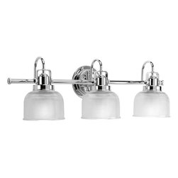 Progress Lighting - Progress Lighting P2992-15 3-Light Bathroom Lighting - Progress Lighting P2992-15 3-Light Bathroom Lighting with Clear Double Prismatic Glass Shades