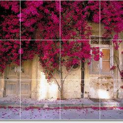 Picture-Tiles, LLC - Flower Photo Shower Tile Mural F093 - * MURAL SIZE: 18x24 inch tile mural using (12) 6x6 ceramic tiles-satin finish.