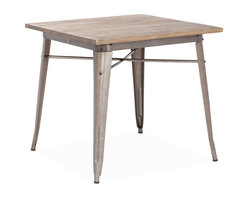 ZUO ERA - Titus Dining Table Rustic Wood - This table has a solid reclaimed wood top with a solid steel frame in a faux rust galvanized steel finish.