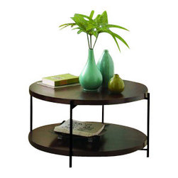 "TFG Furniture - Martini Coffee Table in Java Oak - TFG Furniture Martini Coffee Table in Java Oak. Martini Coffee Table in Java Oak. Frames are 1/2"" square steel. Frames are powdercoated. Java Oak wood tops and shelves are 1 1/2"" thick, veneered. Wipe clean with damp cloth."
