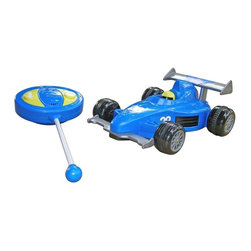 ORE International - Remote Control Racing Toy Car in Blue Finish - Ages group: 2 year and up. Requires 4 AA batteries for car (batteries not included) . Requires 1 9V battery for remote (batteries not included) . Move forward, in reverse and makes turns. Used for indoor and outdoor. 30 Days warranty. 10 in. L x 7 in. W x 3.5 in. H (2 lbs.)Get ready, get set, GO! Your little one will have hours of fun with this fancy sports car. Its bold color and sleek design make it eye catching for little kids. Let your child's imagination take off to a land of fast laps and top speeds.