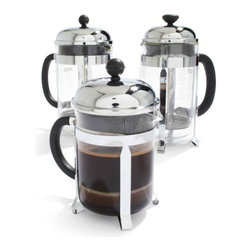 Bodum Chambord French Press - For the most delicious coffee, use a French press. It doesn't take up much space, and it makes amazing coffee that you and your guests will love.