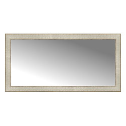 """Posters 2 Prints, LLC - 38"""" x 19"""" Libretto Antique Silver Custom Framed Mirror - 38"""" x 19"""" Custom Framed Mirror made by Posters 2 Prints. Standard glass with unrivaled selection of crafted mirror frames.  Protected with category II safety backing to keep glass fragments together should the mirror be accidentally broken.  Safe arrival guaranteed.  Made in the United States of America"""