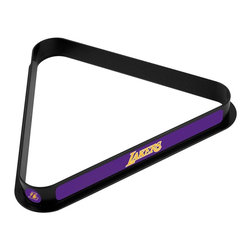 Trademark Global - Los Angeles Lakers NBA Billiard Ball Rack - High Impact Styrene Construction. Officially Licensed Art on All Three Sides and Each Point of the Rack. 15 Ball Capacity for Regulation Size Balls. Dimensions: 11.25 x 12.375 x 1.25 inchesA perfect rack is crucial to the game of billiards. Ensure your balls are precisely racked in this officially licensed billiard ball rack. High impact styrene construction guarantees a long-lasting rack that holds its shape. Each side and point of the rack features officially licensed art. Bring home an officially licensed rack to your pool table.