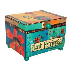 """Westland - 5 Inch """"Plant Happiness"""" Music Box with Butterfly and Flowers - This gorgeous 5 Inch """"Plant Happiness"""" Music Box with Butterfly and Flowers has the finest details and highest quality you will find anywhere! 5 Inch """"Plant Happiness"""" Music Box with Butterfly and Flowers is truly remarkable."""