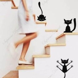Custom Color PopDecals, Funny Cats - For a bit of humor, go for these wall decals.