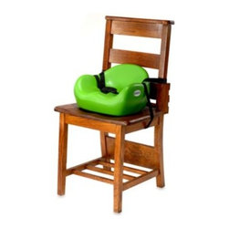 Keekaroo - Keekaroo Cafe Booster Seat in Lime - This contemporary and cozy booster seat by Keekaroo allows your little one to sit comfortably on an average grown-up chair. The material is soft to the touch and its tear-resistant latex-free seamless construction is impermeable to fluids.