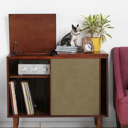 Draper Media Console - Add a little retro Hi-Fi action to any room in your house with this nostalgic stereo cabinet. Of course, it works just great for a modern day Bose wave radio, iPod player, or an old school turntable, whatever floats your boat and plays your music. It would also make a great television stand.