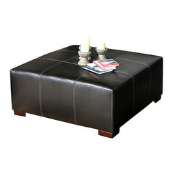 Chelsea Home Furniture - Chelsea Home Domino Ottoman in San Marino Brown - Domino Ottoman in San Marino Brown belongs to Benchmark collection by Chelsea Home Furniture.