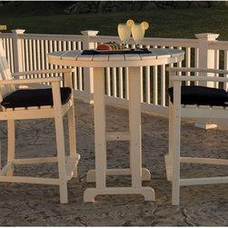 Fifthroom - POLYWOOD 2 Seat Classic Adirondack Counter Set -