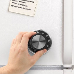 Kikkerland - Safe Kitchen Timer - Features: -Material: Stainless steel, ABS, magnet .