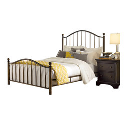 American Drew - American Drew Ashby Park 4-Piece Metal Copper Bedroom Set - The Ashby Park collection is a casual, lifestyle collection with multiple options that will help you create the perfect bedroom. The design of the collection is simple, yet full of look. An eclectic mix of colors and materials gives this group the ability to fit into many settings; create a metro, casual, transitional, traditional or even coastal appearance by changing or mixing up the colors and textures. There are five finish options. The three wood tone finishes are Natural, Nutmeg and Peppercorn and the stained colors are Sage and Sea Salt. The semi-transparent finish is accomplished by applying the various colored stains onto the strong grain characteristics of Ash. This allows the wood undertones to naturally add depth and highlights to each piece. The wood tone finishes use a Dark Copper finished knob. The stained colors use a Nickel finished knob. The hardware adds to the simple styling of the pieces. With multiple bed and case piece options, finish and hardware options, Ashby Park is sure to fit the style and needs of many homes.
