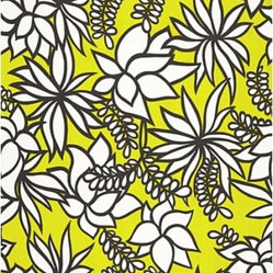 Schumacher - Kalaheo Print Fabric, Sulphur - 2 YARD MINIMUM ORDER