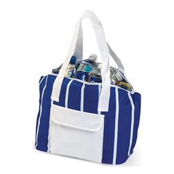 """Picnic Plus - Delray Cooler Bag, Royal Blue - Picnic Plus Insulated Leakproof Delray Cooler Bag, Royal Blue. Color/Design: Royal Blue; With fully insulated and easy to clean leak proof liner; Constructed with a durable 600D polyester exterior and insulated liner; Large front pocket holds cell phone or accessories. Dimensions: 13 1/2""""W x 6 1/2""""D x 12""""H"""