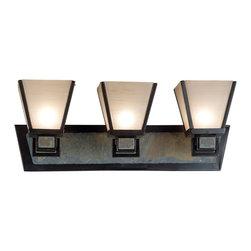 Kenroy - Kenroy 91603ORB Clean Slate 3-Light Vanity - Kenroy 91603ORB Clean Slate 3-Light Vanity