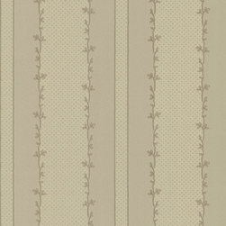 Grey Mini Floral Border Textured Wallpaper - Give your walls a traditional look with a modern flare with wallpaper from the Regent Collection by Brewster.